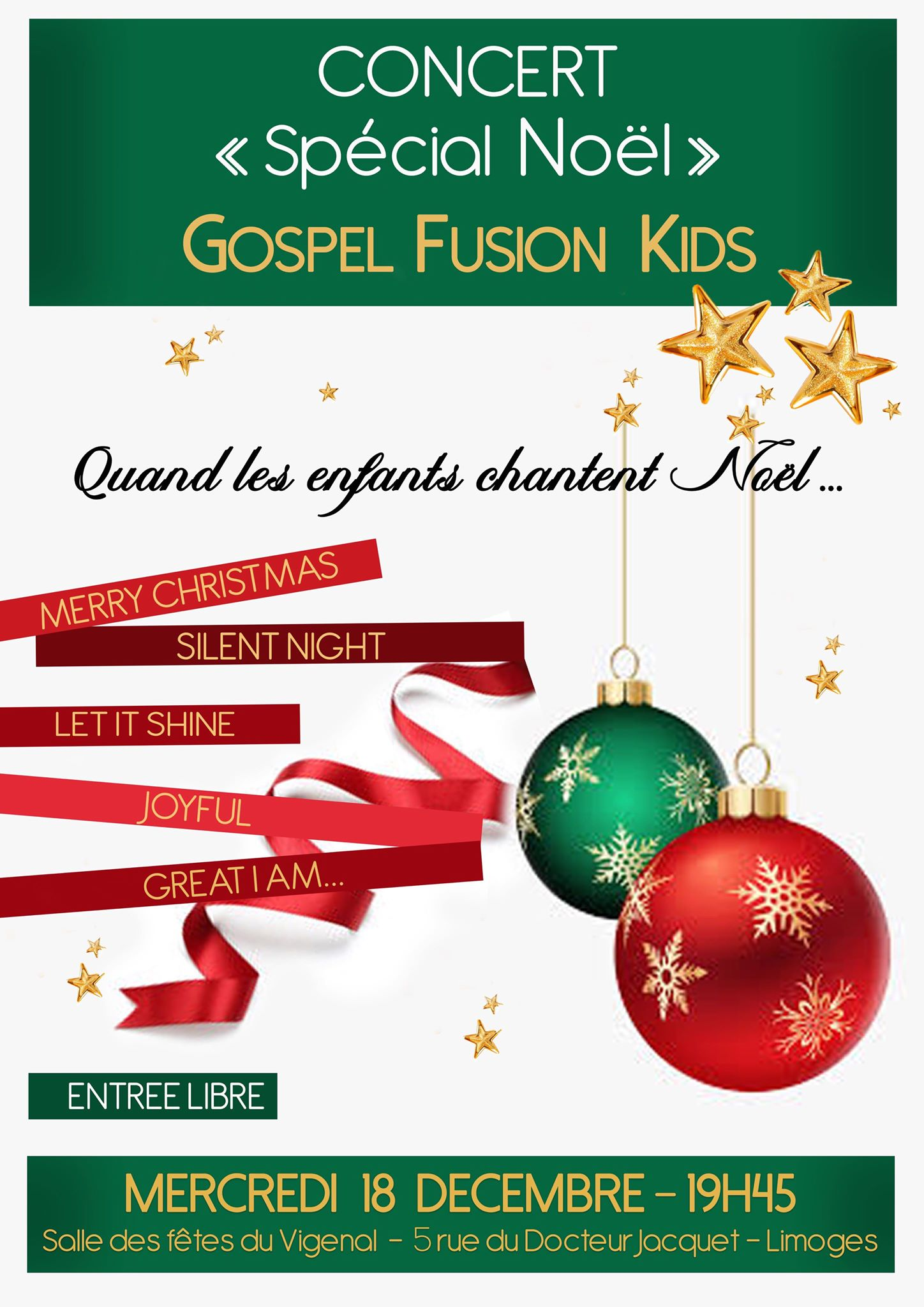 Concert spécial Noël Gospel Fusion kids