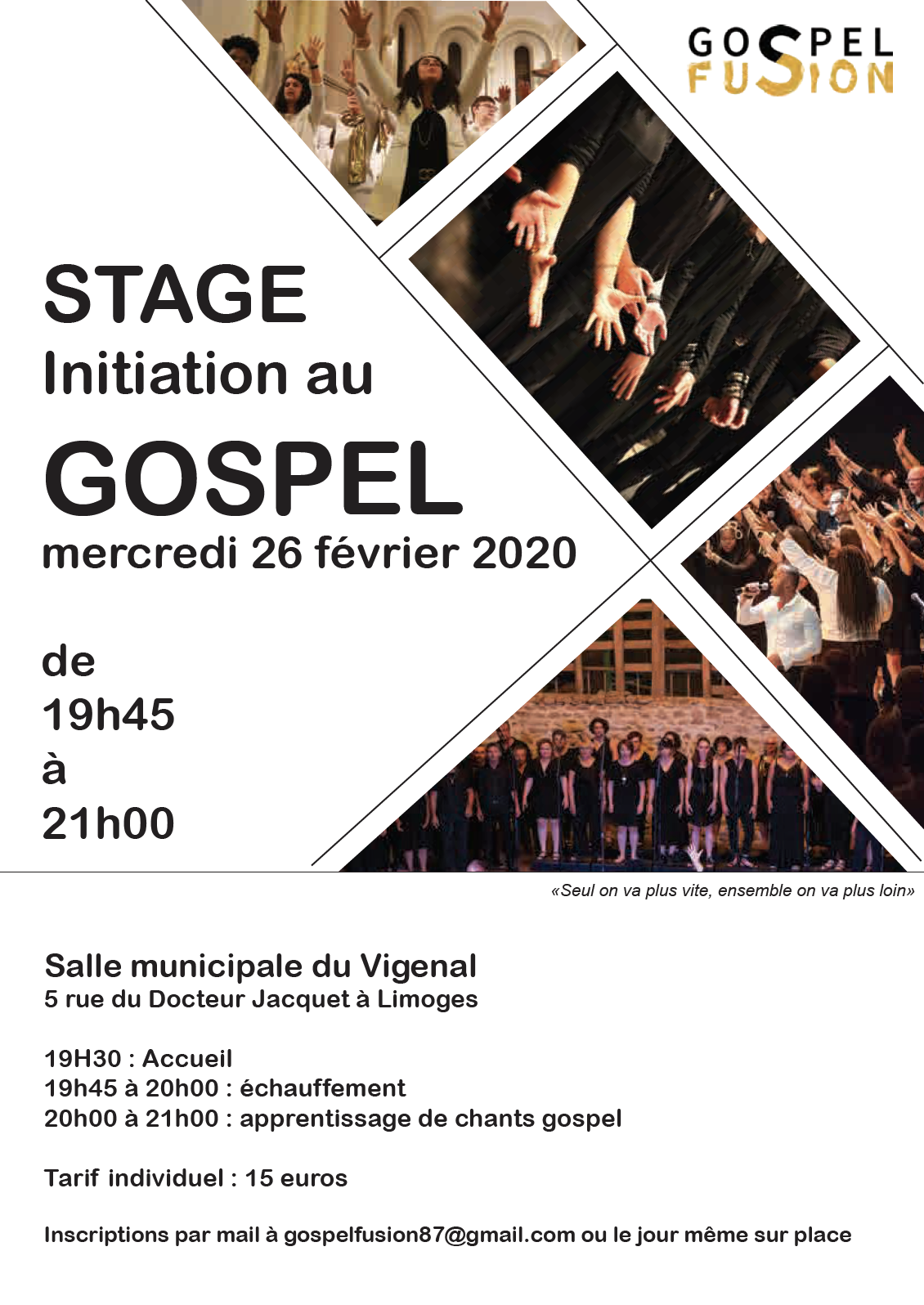 Stage de chant Gospel